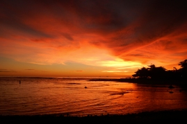 Red Sunset at Ujung Genteng (2013)