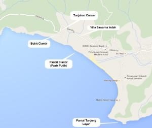 Peta Wisata Sawarna